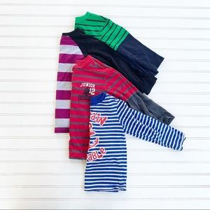 little boys striped long sleeve shirt bundle